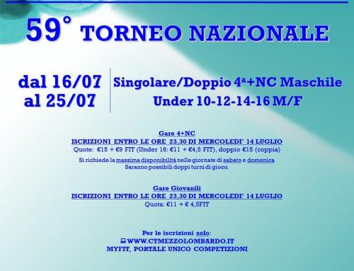 Torneo Nazionale 2021: Giovanili e 4a Categoria